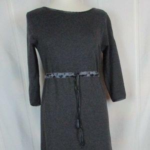 Vintage Medium Gray CRAZY HORSE Long Dress